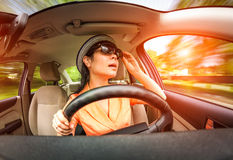 Women driving a car Stock Photos