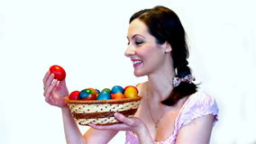 Women with Easter eggs Stock Images