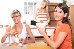 Women eating breakfast Stock Image