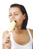 Women eating ice cream Stock Images