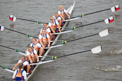 Women eight - 100th Primatorky rowing race Stock Photography