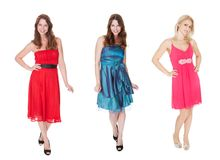 Women in elegant dresses Stock Photos