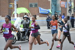 Women Elite Runners NYC Marathon Stock Photography