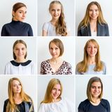 Women emotions collage stock photo