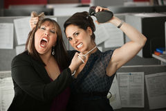 Women Employees Quarreling royalty free stock image