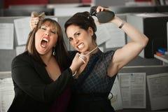 Women Employees Quarreling Royalty Free Stock Image