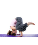Women is engaged in yoga Royalty Free Stock Photography