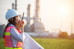 The women engineer at power plant, Stock Image