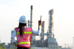 The women engineer at power plant, Stock Photos