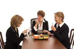 Women Enjoy a Working Lunch Stock Photography