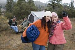 Women Enjoying Camping Trip Royalty Free Stock Image