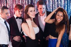Women Enjoying Party With Friends At Nightclub Stock Image
