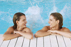 Women Enjoying In Pool Stock Photos