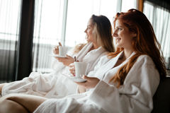 Women enjoying tea Stock Photography