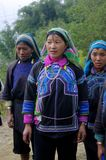 Women of the ethnic (minority) Ha Nhi. These women of ethnic (minority) Ha Nhi live in the mountains. These women are let port port of any kind. Away from their Royalty Free Stock Photography