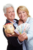 Women with Euro money bills Stock Photography