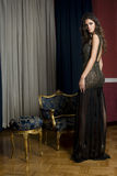 Women in an evening dress Royalty Free Stock Photo