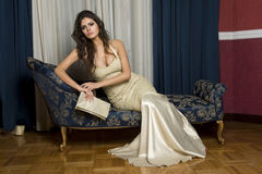 Women in evening dress. Elegant woman in evening dress Royalty Free Stock Photo