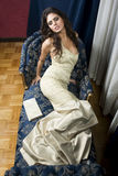 Women in an evening dress Royalty Free Stock Photos