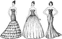 Women in evening dresses Stock Image