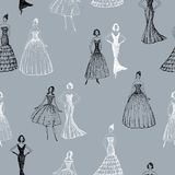 Women in evening gowns Royalty Free Stock Photography