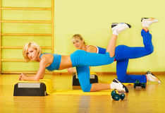 Women exercising Royalty Free Stock Photography