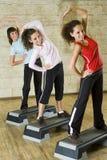 Women exercising stock image