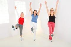 Women during exercising Royalty Free Stock Image