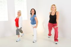 Women during exercising Stock Photo