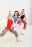 Women during exercising Royalty Free Stock Photos