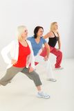 Women during exercising Royalty Free Stock Photography