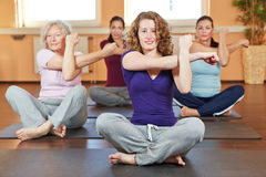 Women exercising in fitness center Royalty Free Stock Photo
