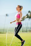 Women Exercising Jumping Rope Stock Photography