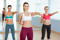 Women exercising. Royalty Free Stock Images