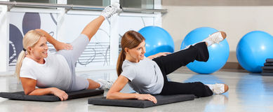 Women exercising together royalty free stock photos