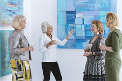 Women on exhibition royalty free stock images