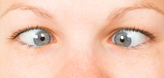 Women eye, close-up, blue Royalty Free Stock Photography