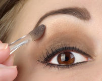 Women Eye With Brown Makeup Royalty Free Stock Images