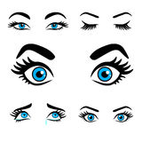 Women eyes expressions set 2 Stock Images