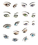 Women eyes set Stock Photo