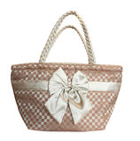 Women fabric shoulder bag Stock Images