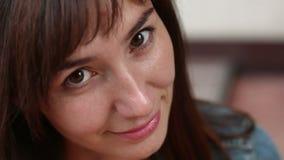 Women face close-up stock video