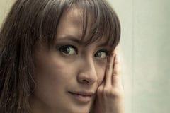 Women face moody Stock Photo