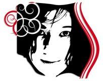 Women - Face - Ornament Stock Images