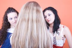 Women face to face Stock Images