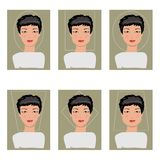 Women face types. Vector illustration Stock Images
