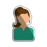 Women faceless profile Royalty Free Stock Photography