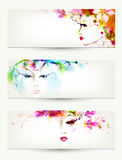 Women faces Royalty Free Stock Photography