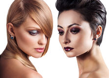 Women faces with perfect skin and make up Royalty Free Stock Images