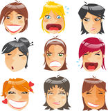 Women faces Stock Image